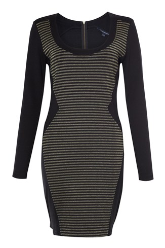 Lara Lurex Stripe Dress