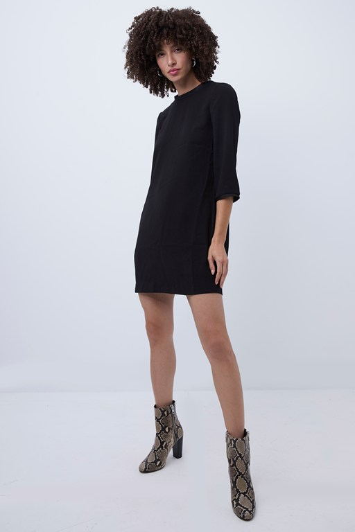Complete the Look Ree Crepe Back Satin Shift Dress
