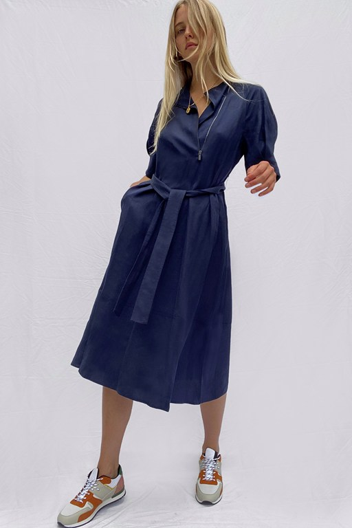 sinni enzo lyocell shirt dress