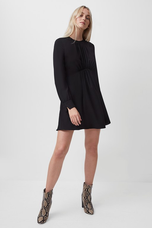 emmy crepe long sleeve dress