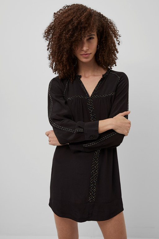isling drape embellished mini dress