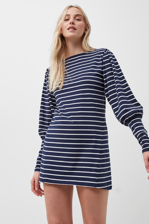 sally breton stripe jersey dress