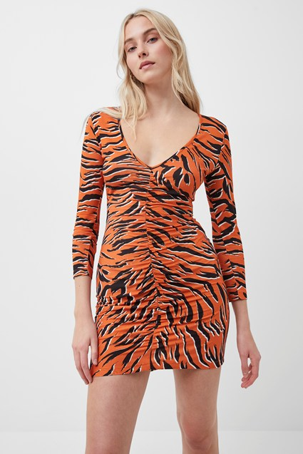 Thita Tiger Print Bodycon Dress