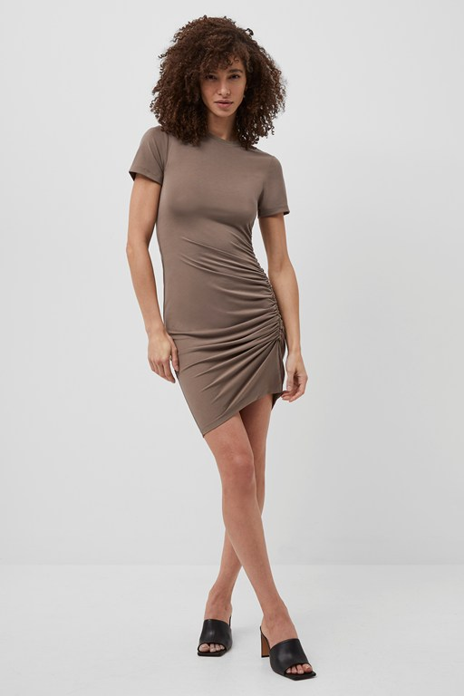 sissy ruched t-shirt dress