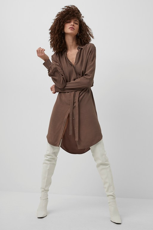 clua drape shirt dress