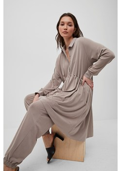 Renya Cupro Drawstring Shirt Dress