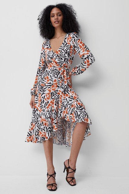 Afra Verona Drape Midi Dress