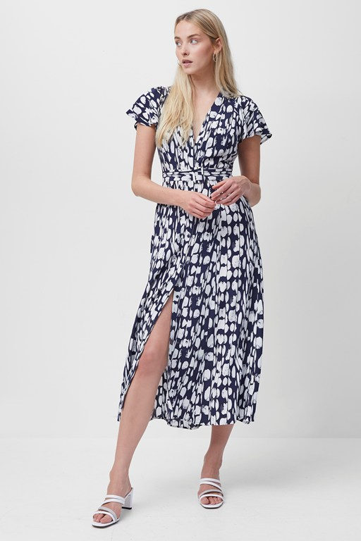 islanna crepe printed midi dress