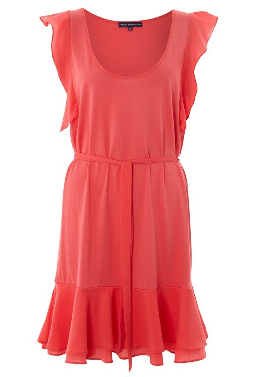 Polly Plains Tie Waist Dress