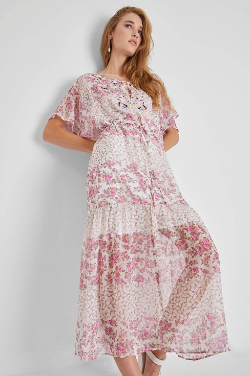 ekeze river daisy crinkle maxi dress
