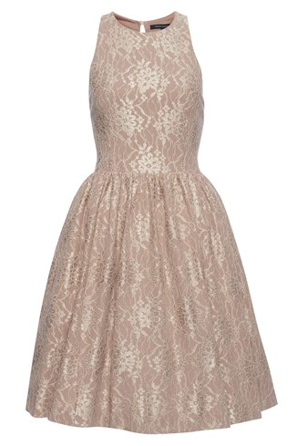 Luxury Lace Flared Dress