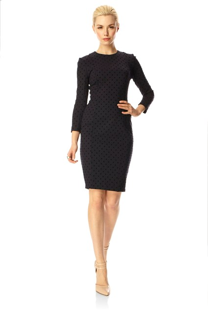 Velvet Spot Fitted Dress