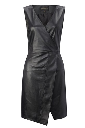 Sunshine Leather Wrap Dress