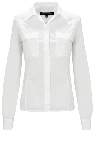 Pearl Poplin Fitted Shirt