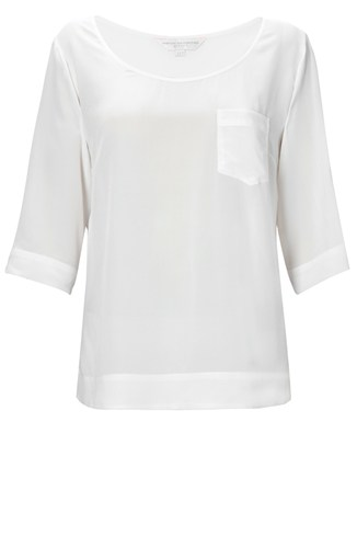 Spring Silk Boat Neck Top