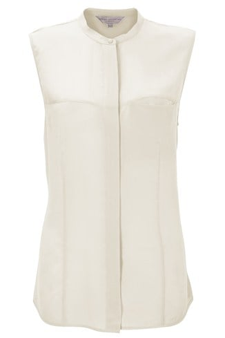 Spring Silk Sleeveless Shirt