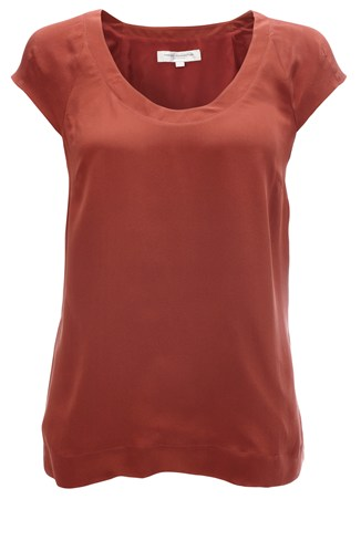 Spring Silk  Scoop Neck Top