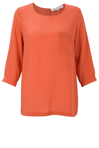 Spring Silk Pocket Top