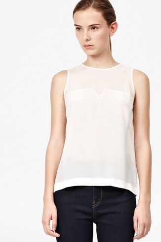 Prism Silk Block Sleeveless Top