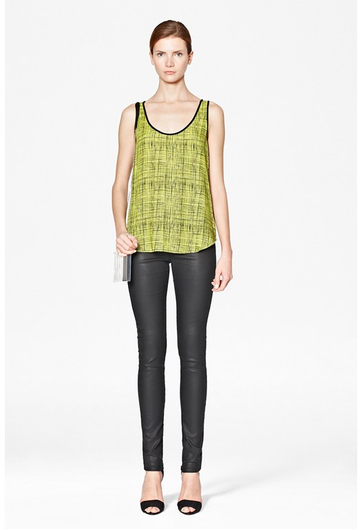 Texture Checked Vest Top