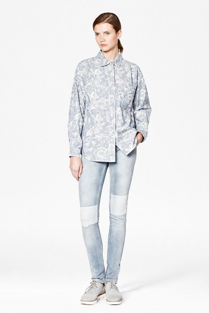 Botanical Chambray Shirt