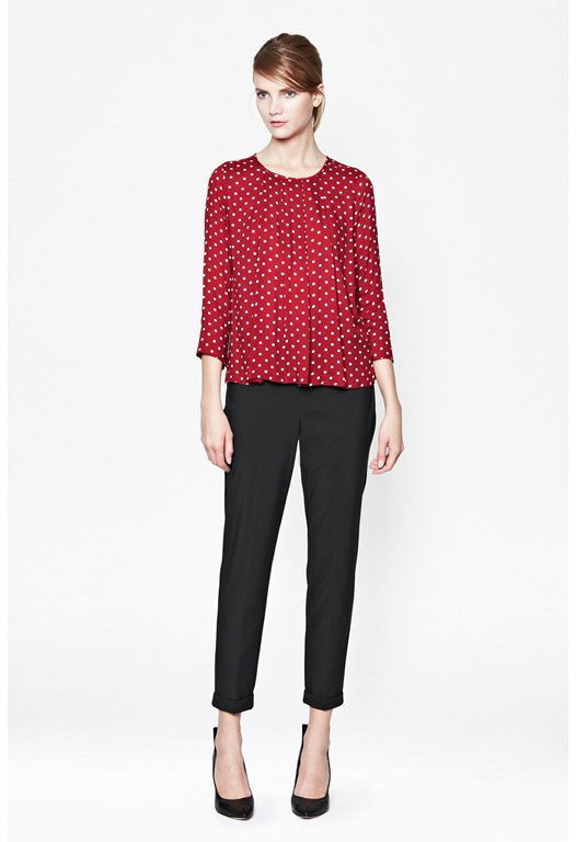 Ziggy Polka Dot Top, Red