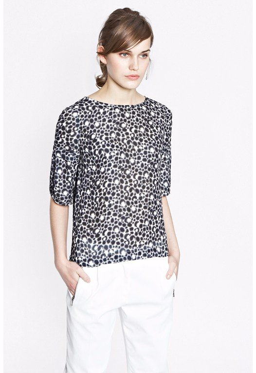 Animal Palette Georgette Top