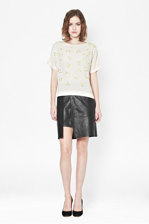 Squiggle Sequin Top