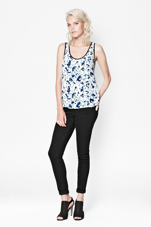 Porcelain Sheen Vest Top