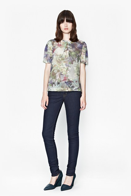 Cherry Orchard Georgette Top