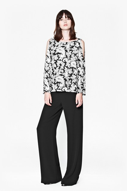 Paisley Party Cut-Out Top