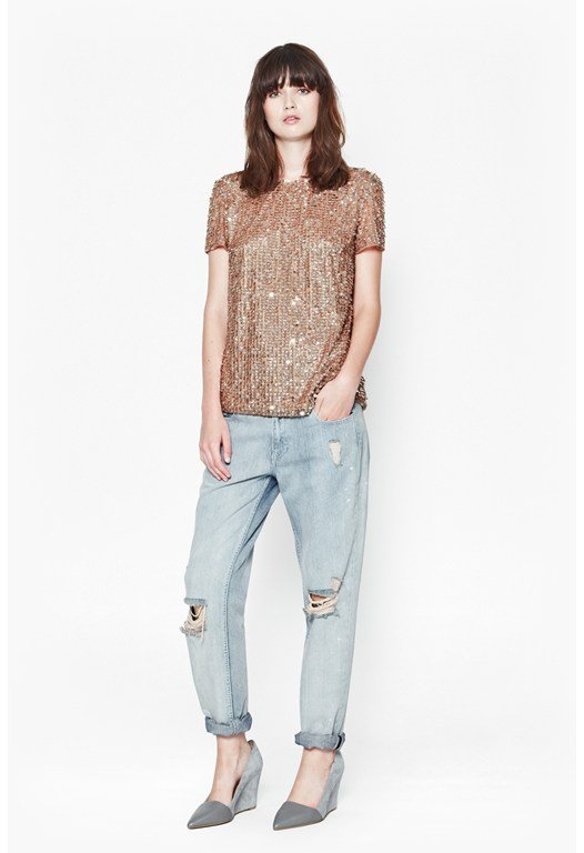 Moonbeamer Sequinned Top