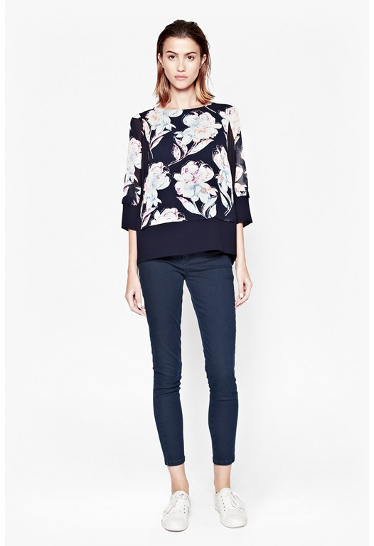 Shadow Bloom Tunic Top