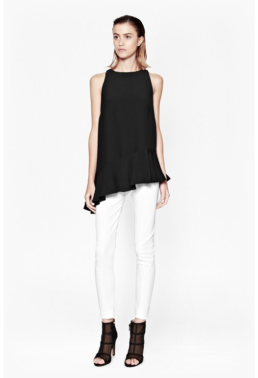 Downtown Crepe Asymetric Top