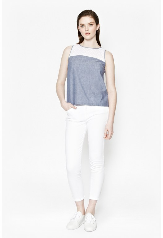 Louis Chambray Sleeveless Top