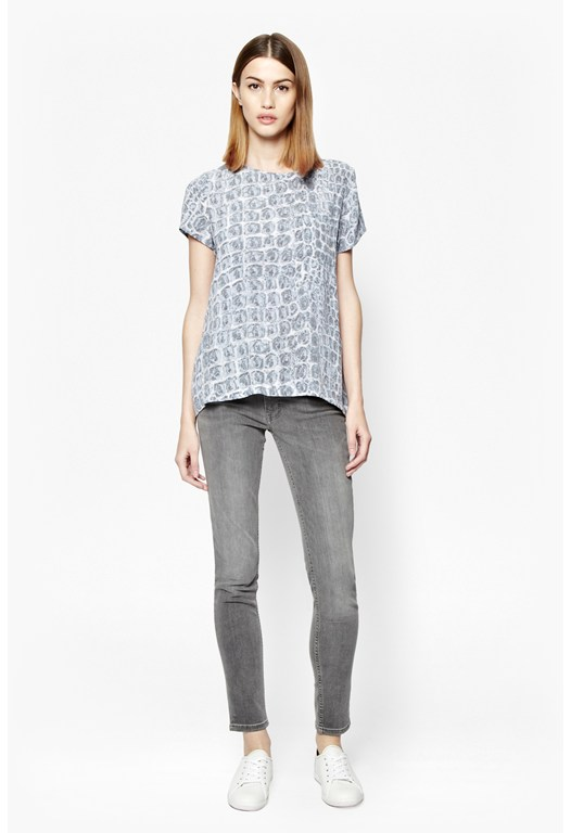 Ali Gator Printed Top