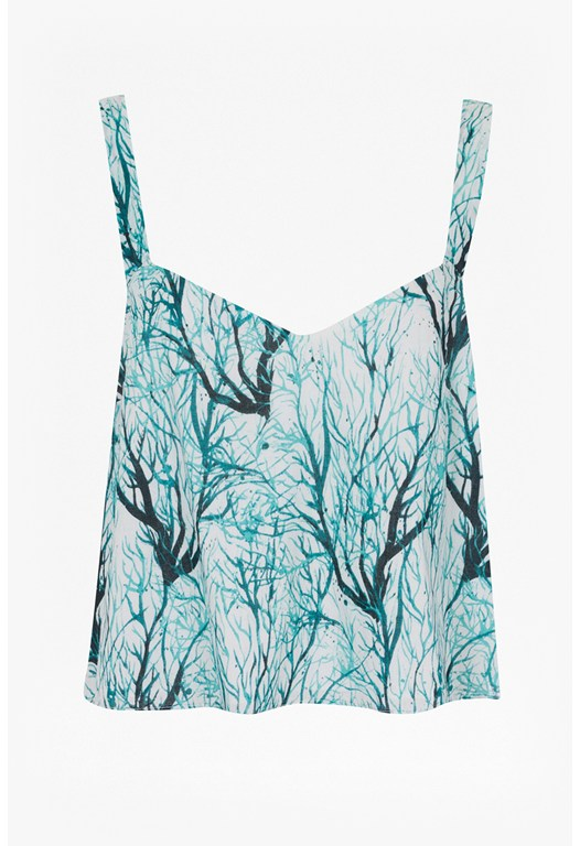 Sea Fern Printed Crop Top