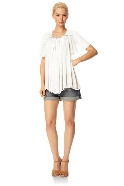 Fifi Fleur Embroidered Top