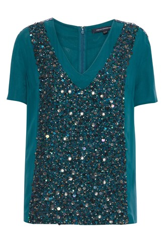 Nightlight Embellished Silk Top