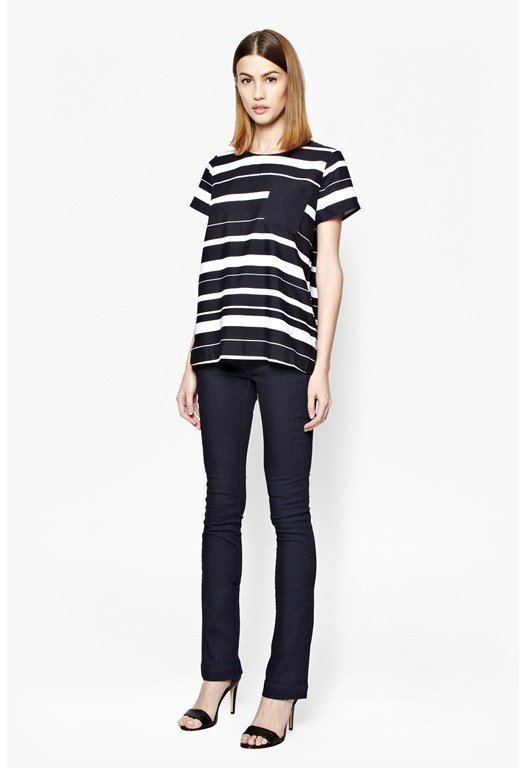 Frieda Colour Block Stripe Top