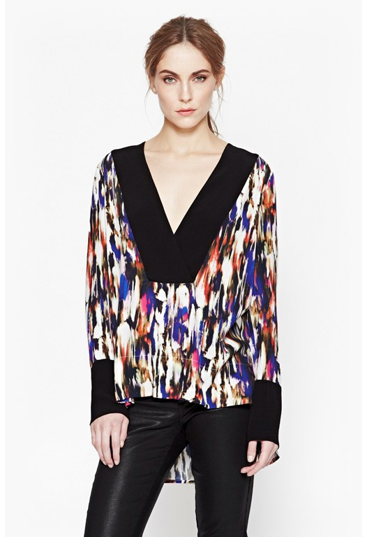 Record Ripple Abstract Top