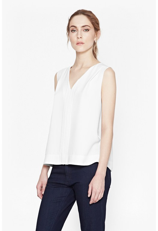 Diamond Sleeveless Crepe Top