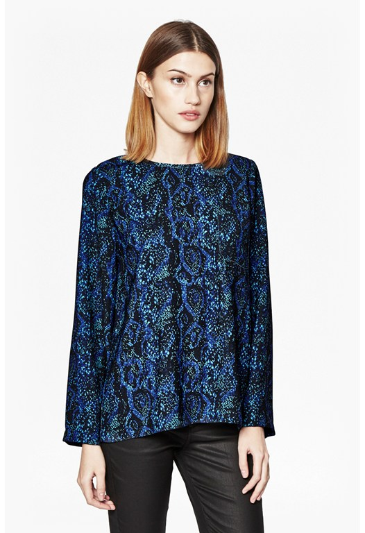 Soho Snakeskin Tunic Top