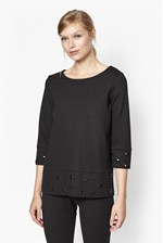 Looks Great With Ele Eyelet Embellished Top