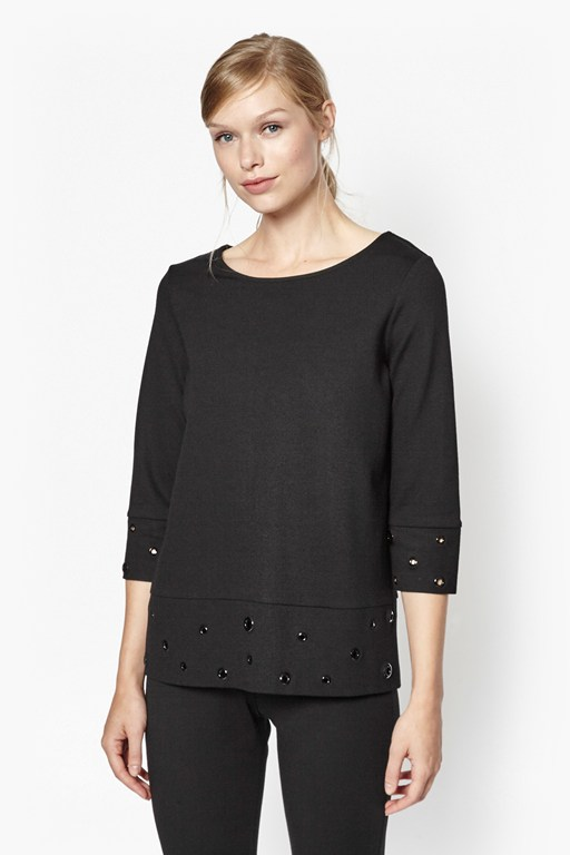 Complete the Look Ele Eyelet Embellished Top