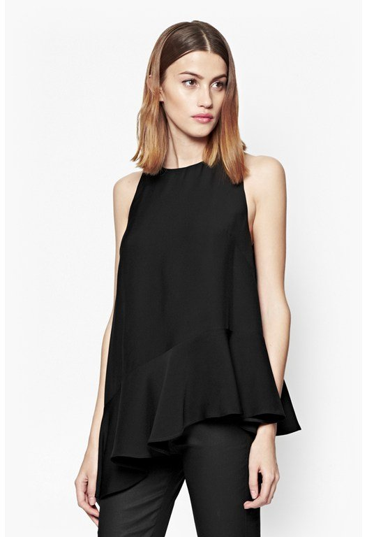 Downtown Crepe Asymmetric Top