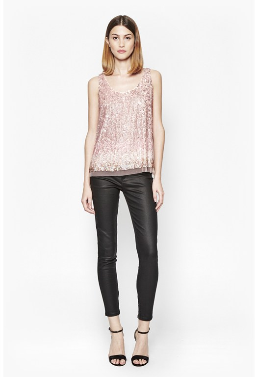 Sunbeamer Ombre Sequin Top