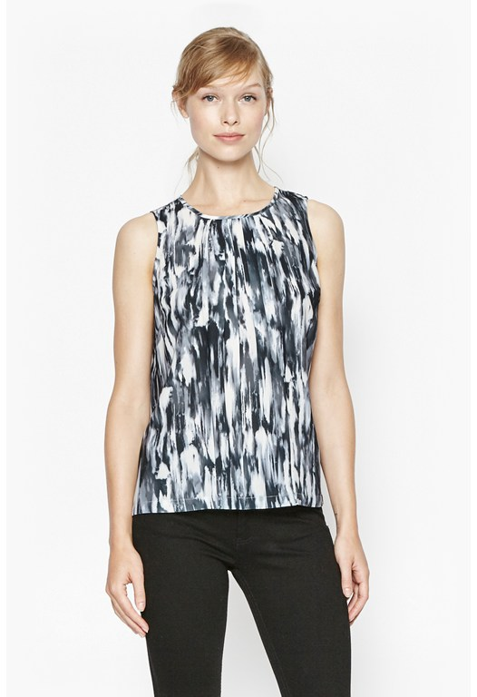 Record Ripple Pleated Top