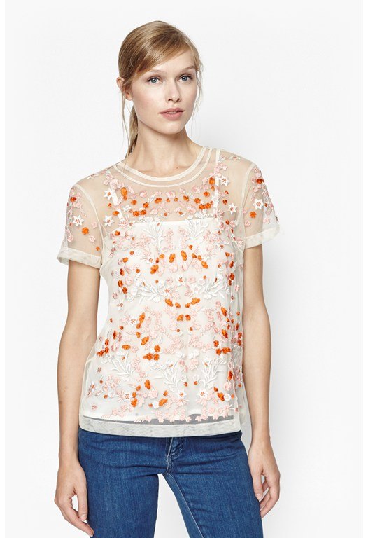 Seychelles Embroidered Floral Top