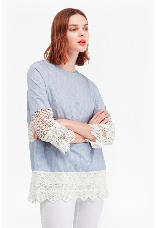 Kyra Cotton Lace Crochet Tunic